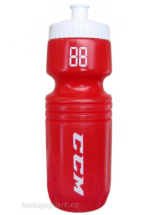 Červená hokejová láhev na pití CCM - objem 0,7 l