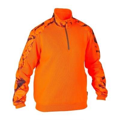 Oranžový lovecký svetr Solognac - velikost S
