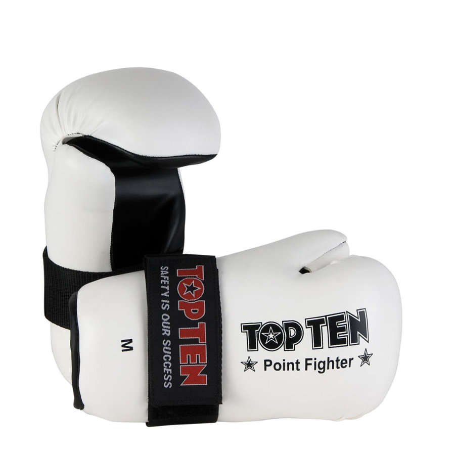 Bílá karate rukavice Top Ten