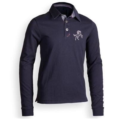 Modré chlapecké jezdecké tričko Fouganza - velikost 151
