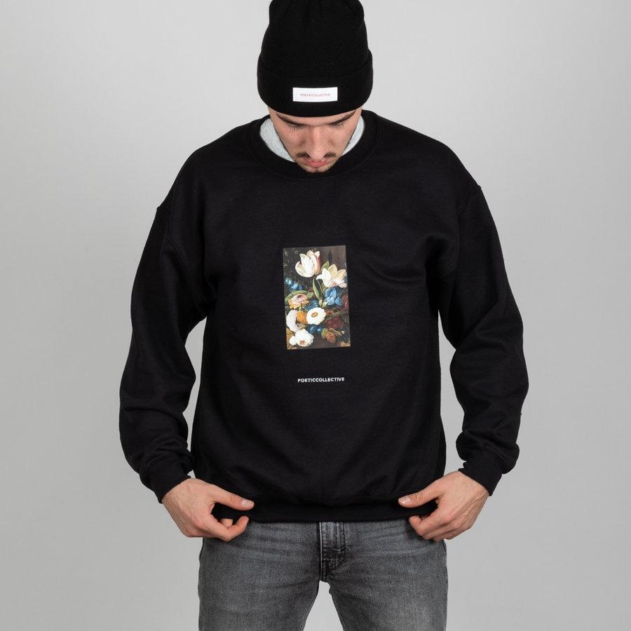 Černá pánská mikina bez kapuce Poetic Collective - velikost L