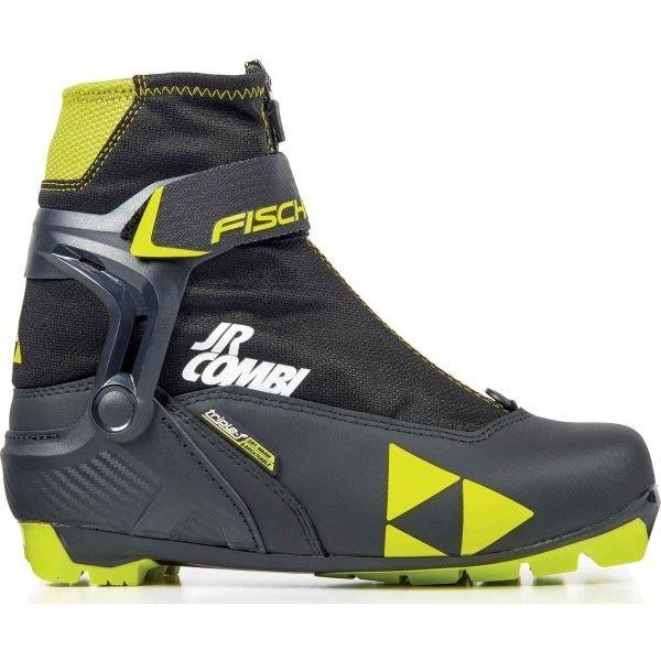 Černé dětské boty na běžky Fischer