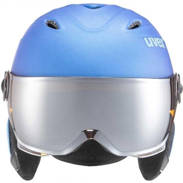Modrá dětská lyžařská helma Uvex - velikost 54-56 cm