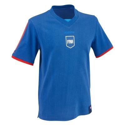 """Modrý dětský fotbalový dres FP500, """"Francouzská reprezentace"""", Kipsta - velikost 115"""