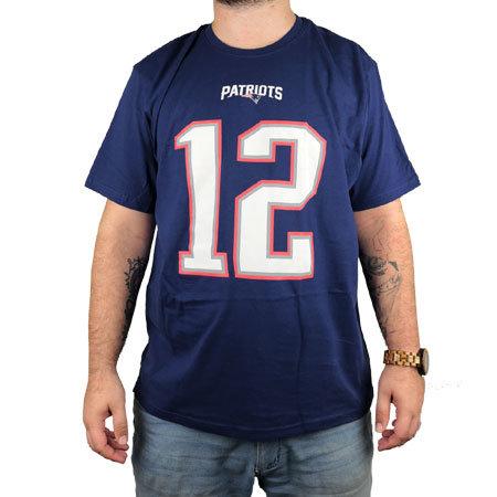 """Modré pánské tričko s krátkým rukávem """"New England Patriots"""", Fanatics - velikost XL"""