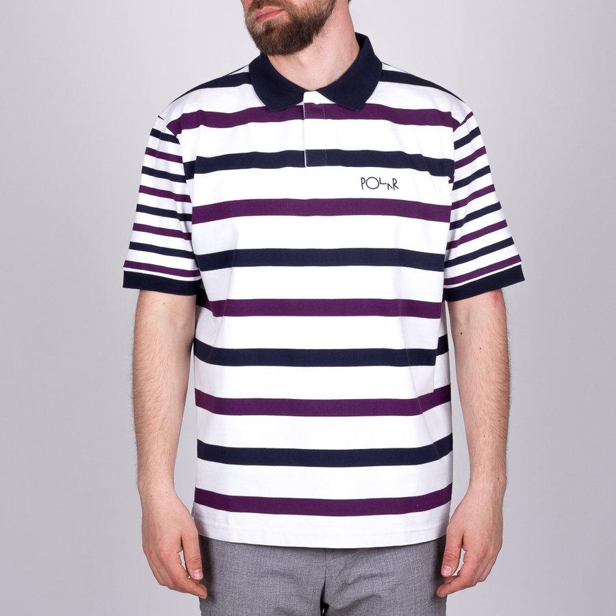 Bílo-fialové pánské tričko s krátkým rukávem Polar Skate Co.