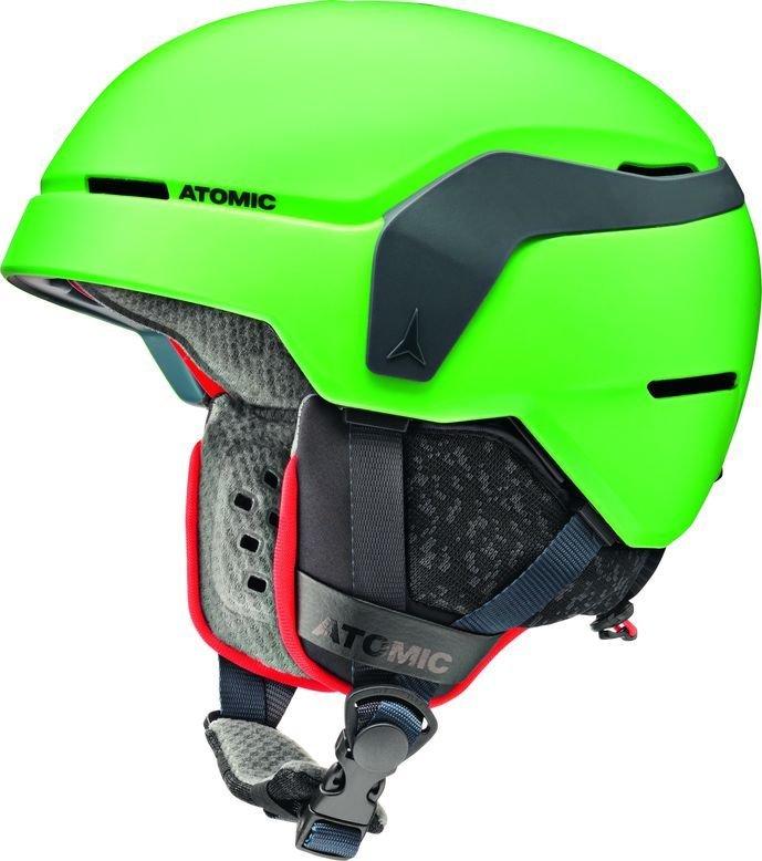 Zelená dětská lyžařská helma Atomic - velikost 48-52 cm