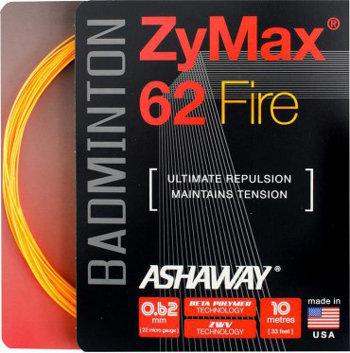 Badmintonový výplet ZyMax 62 Fire, Ashaway - průměr 0,62 mm