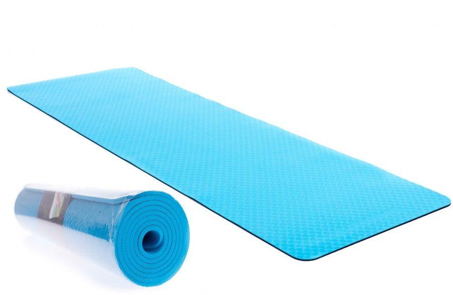 Modrá podložka na cvičení EUPROMED - tloušťka 0,6 cm