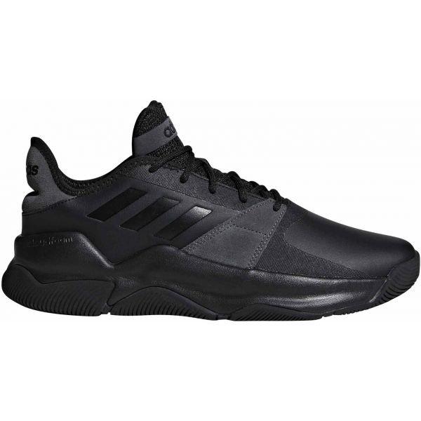 Černé pánské basketbalové boty Adidas - velikost 44 2/3 EU