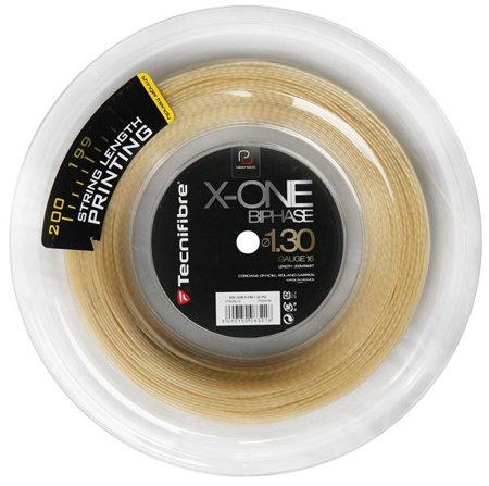 Tenisový výplet X-One Biphase, Tecnifibre - průměr 1,30 mm a délka 200 m