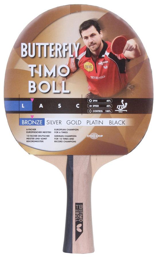 Dřevěná pálka na stolní tenis Timo Boll, Butterfly