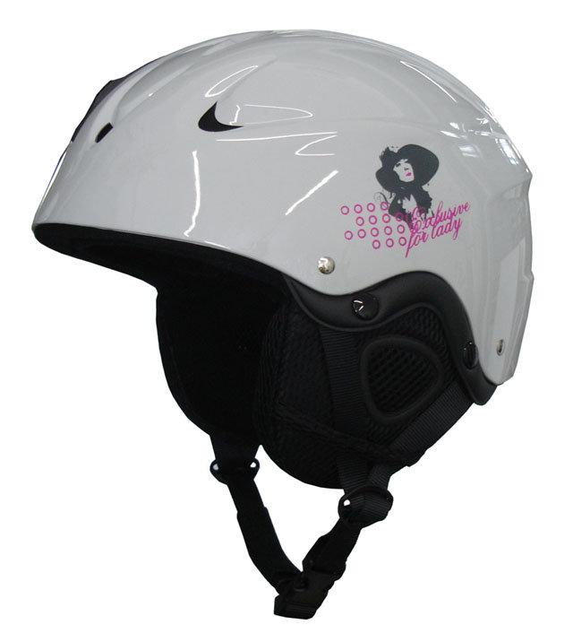 Bílá lyžařská helma Brother