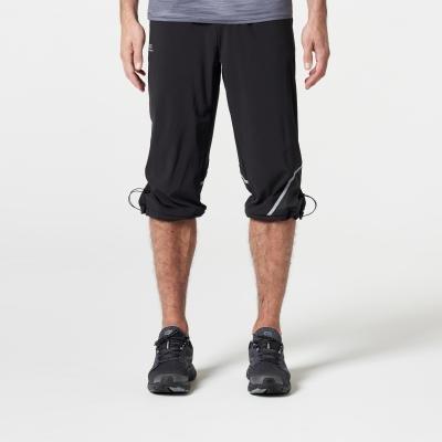 Černé 3/4 pánské běžecké kalhoty RUN DRY+, Kalenji