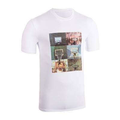 Bílé pánské basketbalové tričko s krátkým rukávem Tarmak
