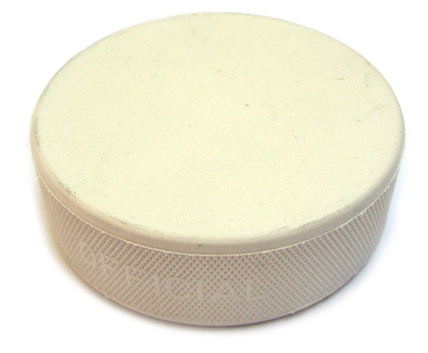 Hokejový puk - Hokejový puk Senior bílý Barva: bílá