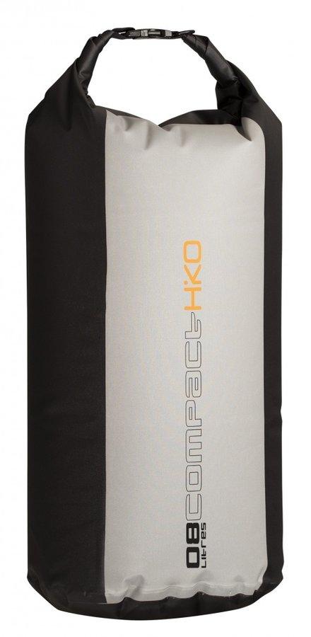 Černo-šedý vodácký batoh COMPACT Cylindr bag, Hiko - objem 8 l