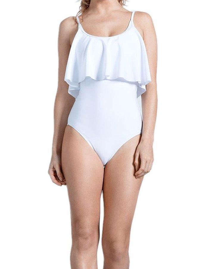 Bílé jednodílné plavky USA Pro - velikost 10