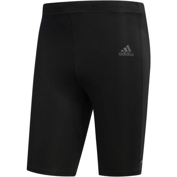 Černé pánské běžecké legíny Adidas
