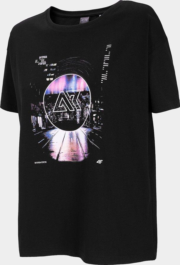 Černé dámské tričko s krátkým rukávem 4F