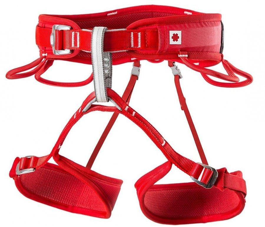 Červený dámský horolezecký úvazek Ocún