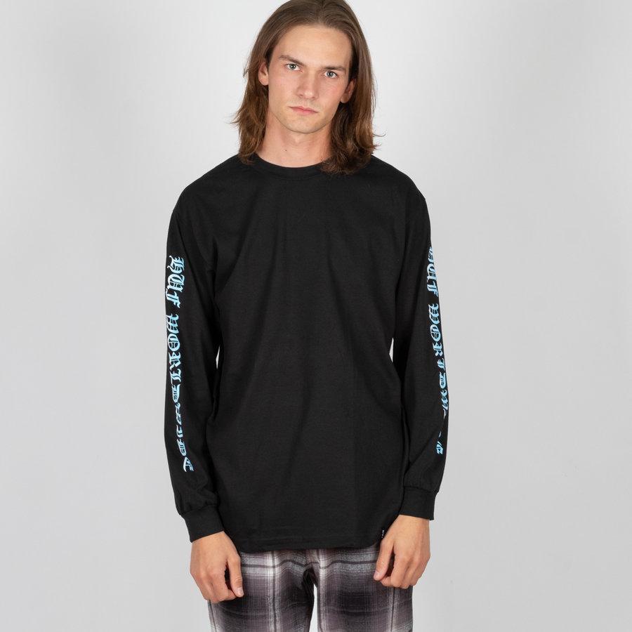 Černé pánské tričko s dlouhým rukávem Huf - velikost M