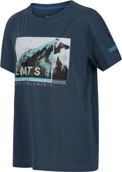Modré chlapecké tričko s krátkým rukávem Regatta