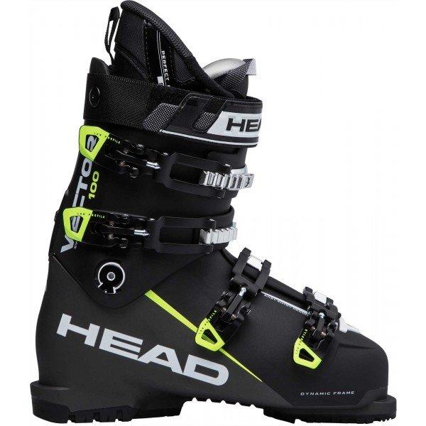 Černé pánské lyžařské boty Head - velikost vnitřní stélky 28,5 cm