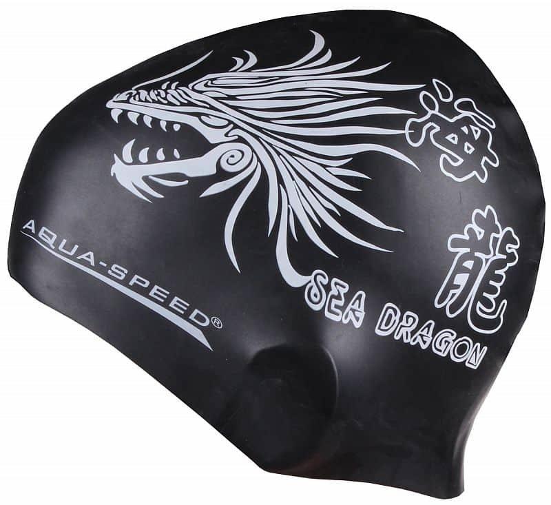 Černá pánská nebo dámská plavecká čepice Aqua-Speed