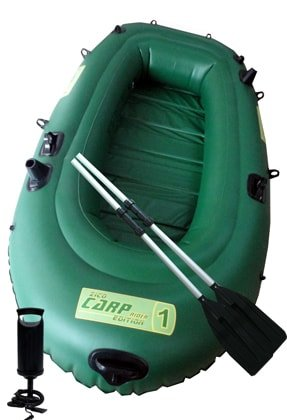 Zelený nafukovací rybářský člun s lamelovou podlahou pro 2 osoby Carp Rider 1, Zico