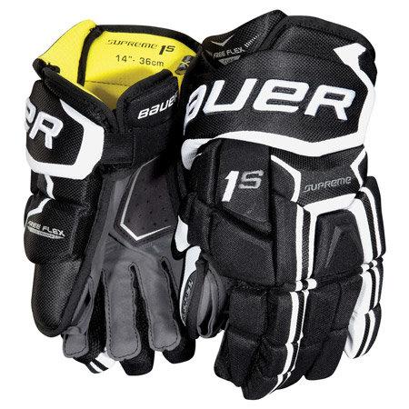 "Červeno-modré hokejové rukavice - senior Supreme 1S, Bauer - velikost 15"""