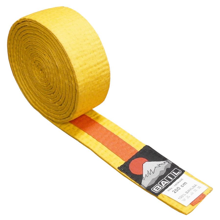 Oranžovo-žlutý judo pásek Bail - délka 250 cm