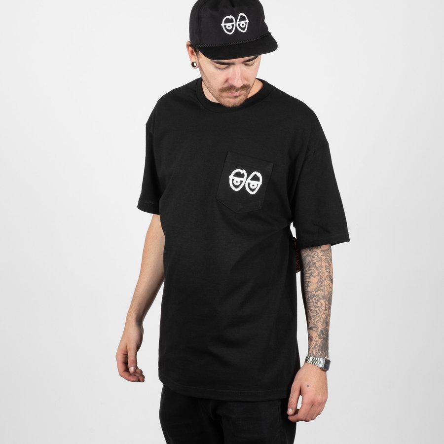 Černé pánské tričko s krátkým rukávem Krooked - velikost M