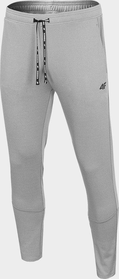 Šedé pánské běžecké kalhoty 4F - velikost S