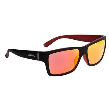 Černo-červené cyklistické brýle Alpina