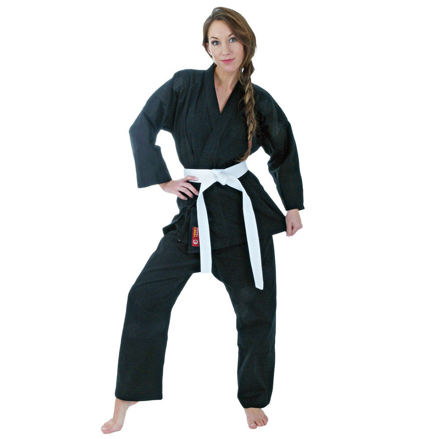 Černé kimono na karate Hayashi