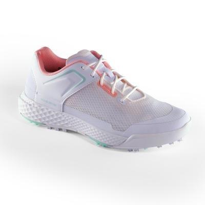 Bílé dámské golfové boty Grip Dry, Inesis
