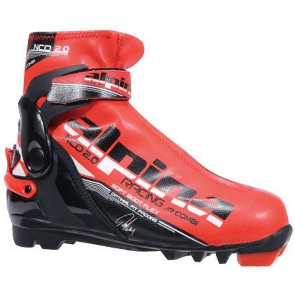 Černo-červené pánské boty na běžky Alpina