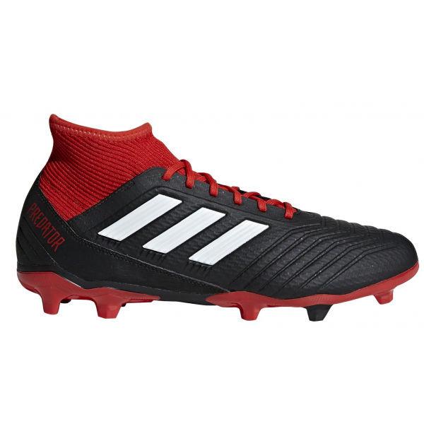Černo-červené pánské kopačky Adidas