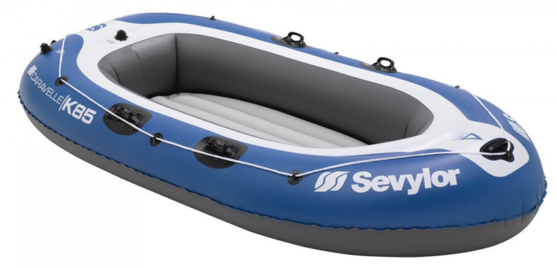 Modrý nafukovací člun s nafukovacím dnem pro 3 osoby Caravelle, Sevylor