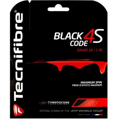 Černý tenisový výplet Tecnifibre - průměr 1,30 mm