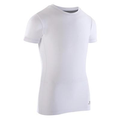 Bílé chlapecké baletní tričko Domyos
