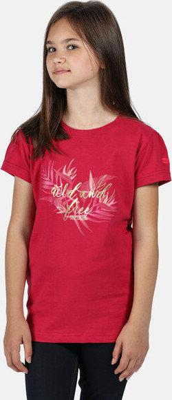 Růžové dívčí tričko s krátkým rukávem Regatta