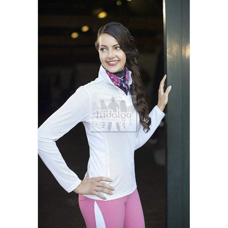 Bílé závodní dámské jezdecké tričko Basic, HKM