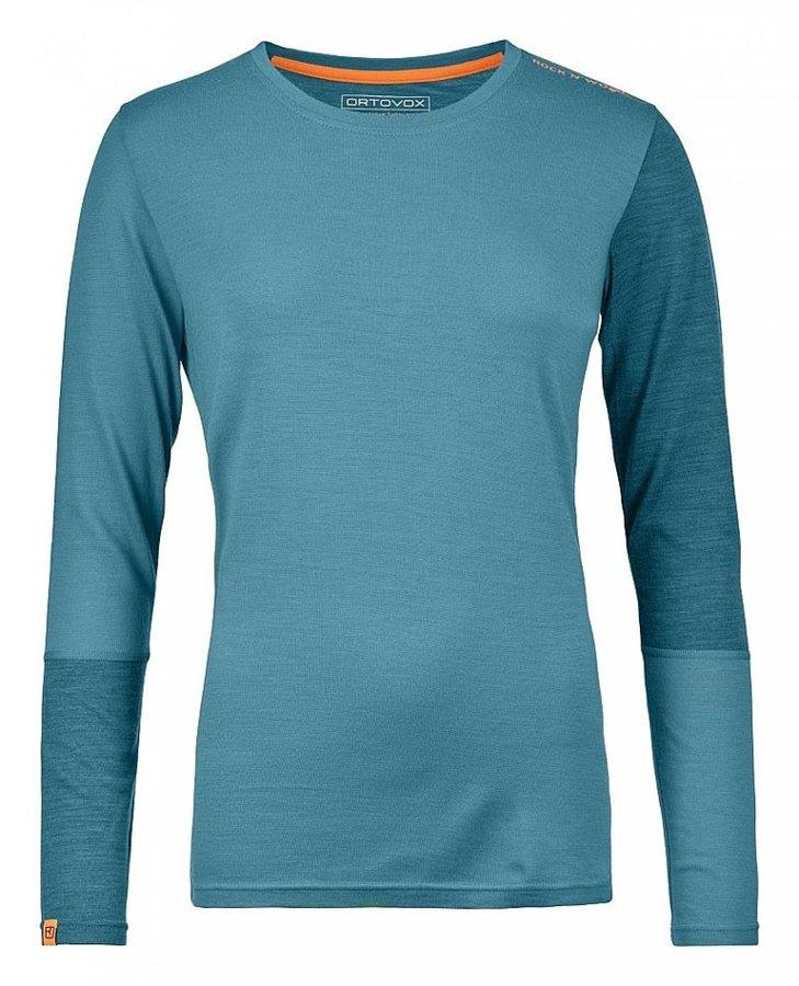Modré dámské termo tričko s dlouhým rukávem Ortovox - velikost XL
