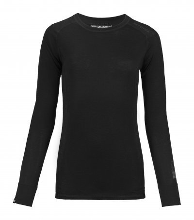 Černé dámské termo tričko s dlouhým rukávem Ortovox