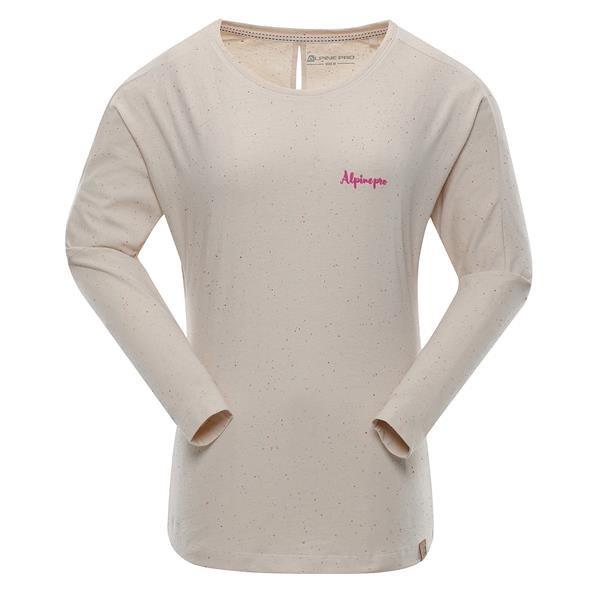 Béžové dámské tričko s dlouhým rukávem Alpine Pro