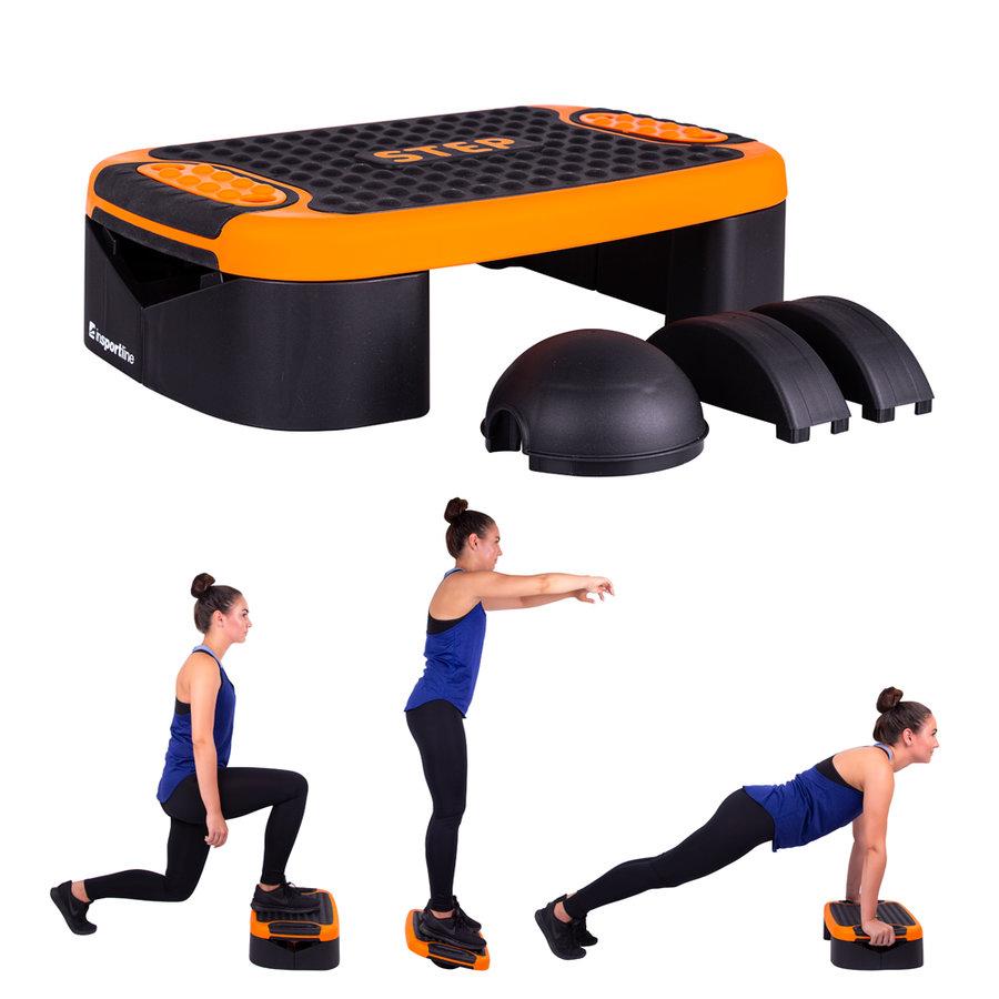 Černo-oranžový aerobic step inSPORTline