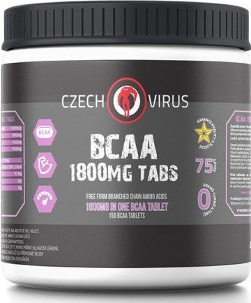 BCAA - BCAA 1800 mg Tabs - Czech Virus 150 tbl