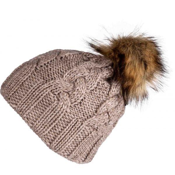 Béžová dámská zimní čepice Starling - univerzální velikost